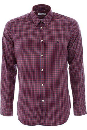 LEATHERSMITH OF LONDON /navy check shirt