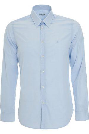LEATHERSMITH OF LONDON Pale poplin shirt