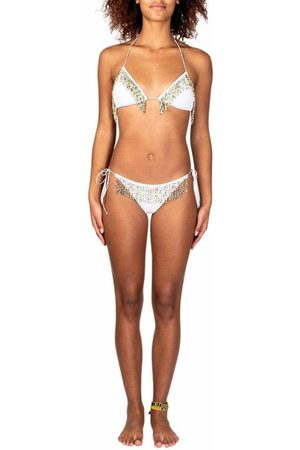 Oseree PEARL-EMBELLISHED TWO-PIECE SWIMSUIT