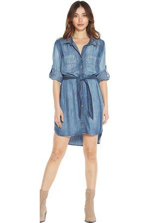 Bella Dahl Two Pocket Belted Shirt Dress - Evening Mist