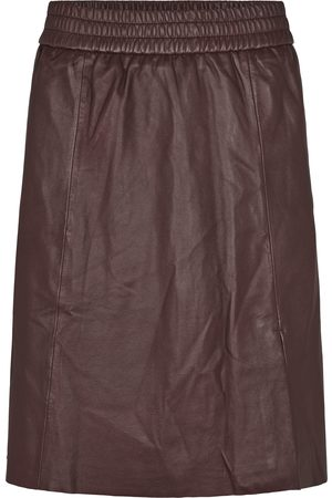 Second Female Women Leather Skirts - Melvin Leather Skirt - Port Royale