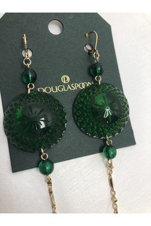 Douglaspoon Long String Disc Earrings in