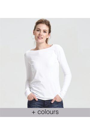 Yunion T Women Long Sleeve - Classic Boat Neck Long Sleeve T-shirt