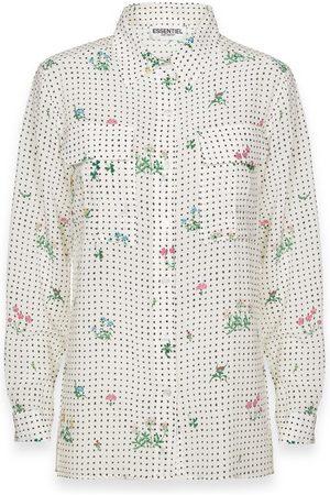 Essentiel Antwerp Trail Shirt - T2OW White with Dot Flower Print