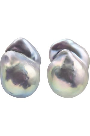 ORA Pearls NEBULA GREY PEARL EARRINGS