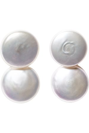 ORA Pearls DUET COIN PEARL EARRINGS