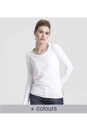 Yunion T Women Long Sleeve - Classic Round Neck Long Sleeve T-shirt