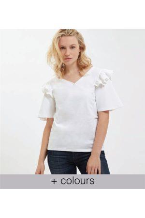 Yunion T LTD Frill Shoulder T-shirt