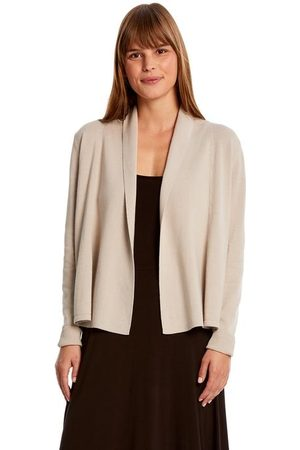 MICHAEL STARS Karen Open Cardigan with Cinched Back - Stone