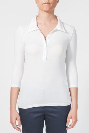 Blubianco Maglia con collo camicia