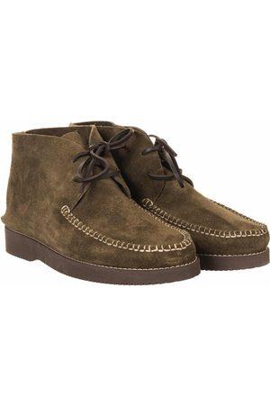 Yogi Footwear Lucas Vibram Suede Lace Up Boots - Olive Size: UK 7, Col