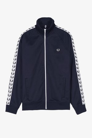 Fred Perry Fred Perry Sports Authentic Taped Track Jacket - Carbon