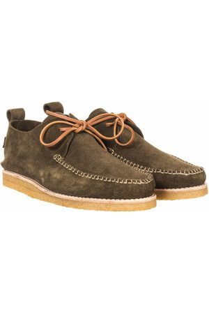 Yogi Footwear Lawson Suede Moccasin Shoes - Olive Size: UK 7, Co