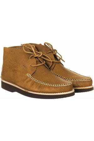 Yogi Footwear Lucas Vibram Leather Lace Up Boots - Tan Size: UK 7, Col