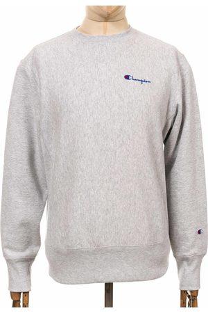 Champion Reverse Weave Script Logo Sweatshirt - LOXGM Light Colo