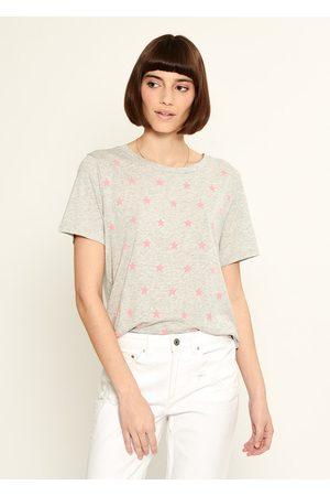South Parade Lola Mini Stars T Shirt - Light Heather Grey / Pink