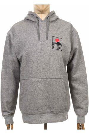 Edwin Jeans Sunset On Mt Fuji Hooded Sweatshirt - Grey Heather Colour: