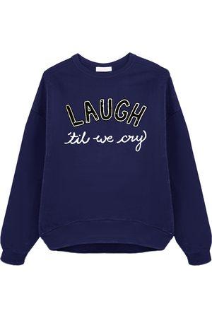 Uzma Bozai Laugh 'Till We Cry Sweatshirt - Navy