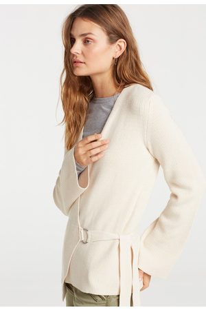 YAYA Wrapped cardigan with structured knit