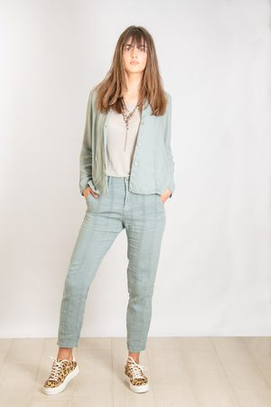 TRANSIT PAR-SUCH Textured Stripe Trousers in Light
