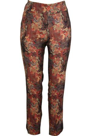 Up Pants 66494 Techno Petal Split Pull On Trouser - Leaves