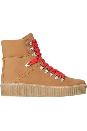 Shoe The Bear Agda Nubuck Lace Up Boot - Tan