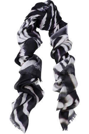 Yunion T Black and White Zebra Print Modal Scarf