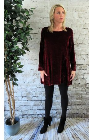 Out Of Xile Silk Velvet Tunic Dress in Quartz