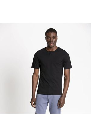 FIELDS Men T-shirts - Cotton Henley Tee