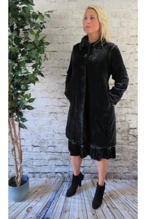 Out Of Xile Silk Velvet Coat in Sapphire