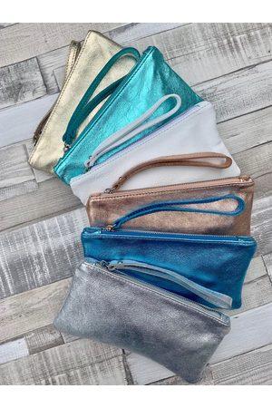 LUELLA Metallic Leather Clutch Bag