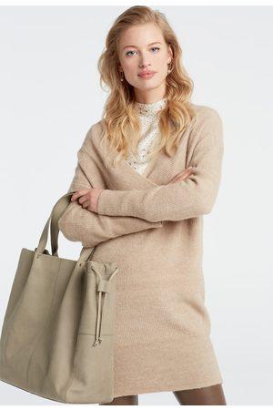 YAYA Women Knitted Dresses - Knitted v-neck dress