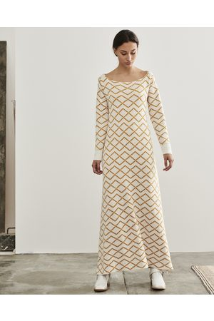 Escvdo Ivory Elena Knit Maxi Dress