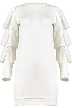 Azulu Myna Ivory Tiered Sleeve Jersey Dress
