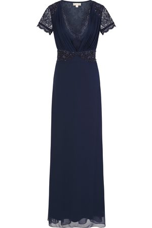 Frock and Frill Calliope Navy Lace Plunge Front Maxi Dress