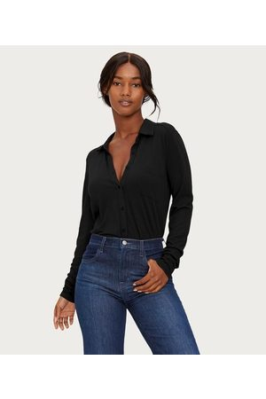 MICHAEL STARS Harley Long Sleeve Button Down Top