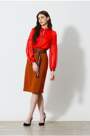 Emily Lovelock Women Skirts - Jane Skirt in Textured Amber