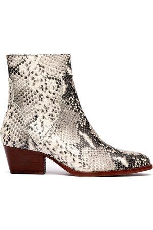 Hudson London Beryl reptile boots SNAKE