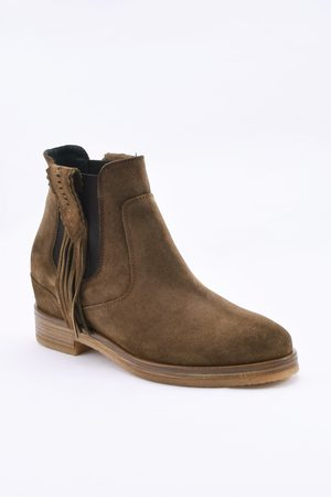 Kanna Cortina Taupe Suede Ankle Boots