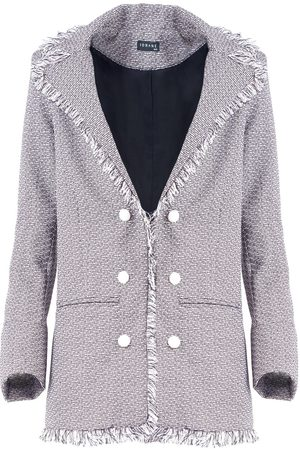 IORANE Tweed Raw Edge Blazer