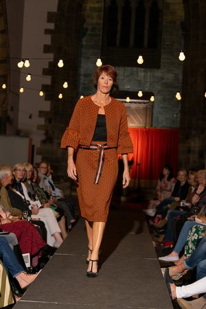 Emily Lovelock Dove Jacket in Textured Amber