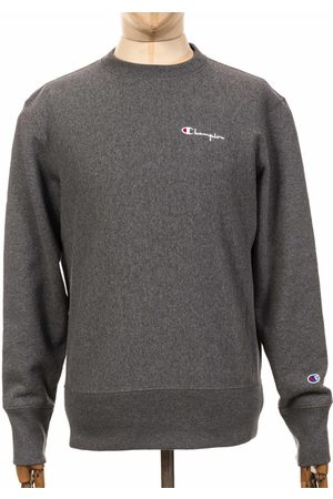 Champion Reverse Weave Script Logo Sweatshirt - GAHM Dark Grey Marl C