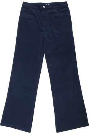New Man Velvet Stretch Flared Jean Trousers - Navy