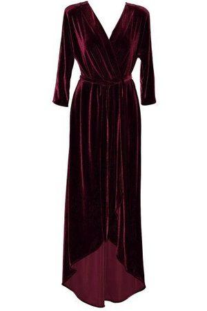 Anna Etter Bordeaux Velvet Felicia Dress