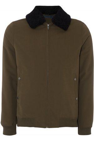 Remus Uomo Fur Collar Bomber Jacket Khaki Colour: Khaki