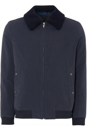 Remus Uomo Fur Collar Bomber Jacket Navy Colour: Navy