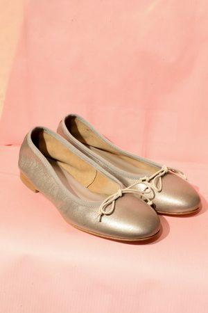 Portamento Women Ballerinas - Ninette Metallic Ballet Flats