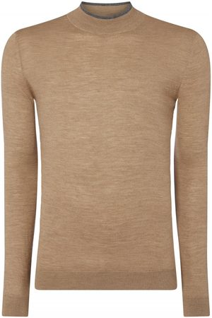 Remus Uomo Long Sleeved Turtle Neck Knit Camel Colour: Camel