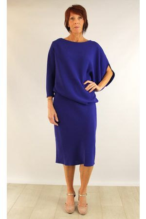Roisin Linnane Clara Drape Dress with One Sleeve in Bright