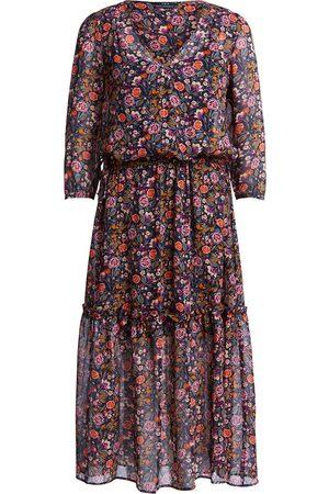 SET Long Dress With Flounce